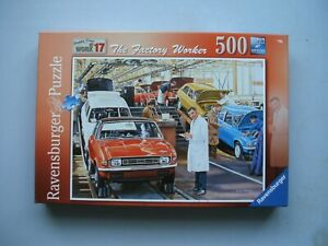 """"""" THE FACTORY WORKER """"   500 PIECE RAVENSBURGER PREMIUM QUALITY JIGSAW PUZZLE"""
