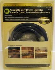 HAMPTON BAY DECORATIVE 18' SUPER BRIGHT BLUE ROPE LIGHT KIT~#774 677~ NEW IN PKG