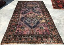 Authentic Hand Knotted Vintage Zaidan Balouch Wool Area Rug 9 x 5 Ft (10050 Bn)