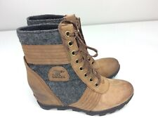 Sorel Lexie Wedge Boots Ankle Booties Tobacco Size 11 Women's