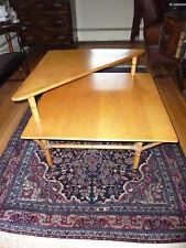 RARE VINTAGE HEYWOOD WAKEFIELD TWO TIERED CORNER TABLE