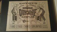 Estrus Double Dynomite Sampler Vol 3 AD Mini Poster Print Rock Punk Gasoline