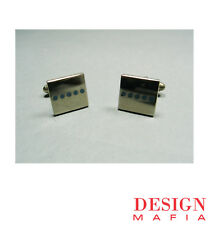 "Archived ACME Studio ""Dots Square"" Cufflinks by Michael Graves"