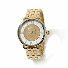 Bellezza Lira Coin Bronze Link Bracelet Watch