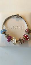 Pandora Armband Moments 925 Silber leicht geschwärzt 19,5 cm mit Charms