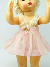 "New listing Vntg 16"" Terri Lee Pink Organdy Dress & panties; tagged"