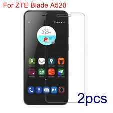 2PC Premium Shockproof Tempered Glass Protective Film Guard For ZTE Blade A520