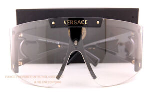 Brand New VERSACE Sunglasses VE 4393 GB1/1W Black/Clear w/Changeable Lenses