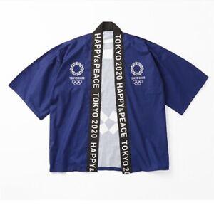 Hope Tokyo 2020-21 Olympic Games official Unisex HAPPI Coat Kimono (Navy) Size F