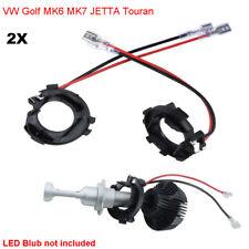 2x H7 LED Bulb Headlight Holder Adaptor Conversion Kit For VW Golf MK6 MK7 JETTA