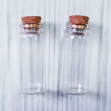 Lot of 50 - 30ml Clear Glass Bottle with Cork Empty Jar Small Message Vial 30ml