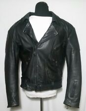 Retro HJC Cirotech Riding Gear Mens Black Leather Padded Lined Jacket CafeRacer