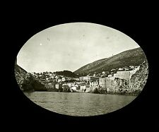 Croatie c. 1900 - RAGUSE La Ville vue de la Mer - Verre Positif - 67