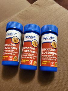 Equate Nicotine Lozenges 4MG Cinnamon 81 tablets