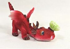 Red Dragon youngster with Butterfly on his nose Fantasy decor mini figurine