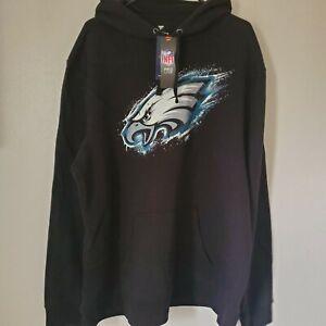 Philadelphia Eagles NFL Men's Fanatics Black 3XL Hoodie Sweatshirt NWT FREE SHIP