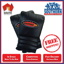 MADISON Fighting Fit Punch Boxing Mitts - Men's Black (Medium) FREE POSTAGE