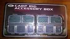 TERMINALE Rig box accessori pesca carpa con 100 articoli all' interno, pieghe, NUOVO