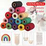 2mm 100m/Roll Waxed Cotton Thread Cords String Thread Macrame Craft Jewelry