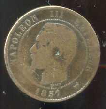 FRANCE  FRANCIA  10 centimes NAPOLEON III   1857  W  ( 1 )