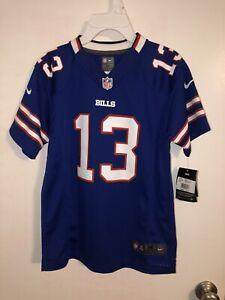 NEW NIKE On Field NFL Buffalo Bills #13 Johnson Jersey Blue Size M 10-12 Youth