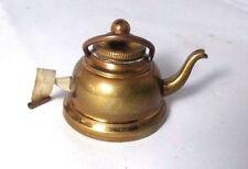 BRASS TEA POT Tape Measure  c1890  Original ANTIQUE ,figural,novelty