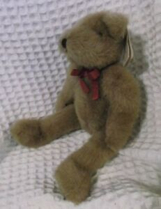 """RARE 1993 Ganz Heritage Collection Langstaff 12"""" Plush Teddy Bear NEWWITHTAGS"""