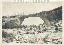 1931 Natural Bridge Utah Press Photo