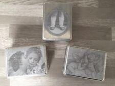 Lot 3 Boites MATHILDE M Metal Zinc 10x7,5cm Romantique Shabby Chic FRANCE