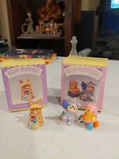 Hallmark Merry Miniatures Easter Parade And Blue Ribbon Bunny Figures Spring