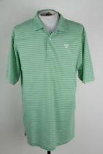 Peter Millar Summer Comfort Mens Sz XL Green Stripe Golf SS Polo Shirt Triumph