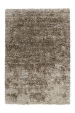 Arte Espina Hochflor Teppich Shaggy Teppiche Uni Grau Taupe Beige 120x170cm