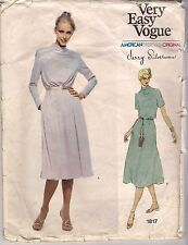 Vogue Sewing Pattern 1817, Jerry Silverman, Vintage Dress, Size 14, Uncut
