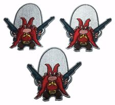 "Looney Tunes Yosemite Sam 3"" Tall Guns Embroidered Set of 3 Patches"