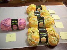 Yarn: (5) Skeins (see listing) Breeze (1)Pink Purple, 4 Lime Orange; (#539)