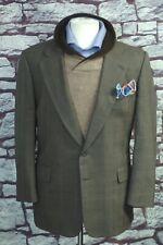 Paul Stuart Men's Taupe Olive Check Plaid All Season Wool Suit 42R 42 Regular
