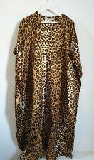 Leanne one size plus size 16 18 20 22 leopard print kimono kaftan beach New