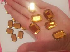 Topaz gold 25mm Sew On Stitch JEWEL GEM CRYSTAL RHINESTONE Bead Crystal DANCE