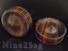 "Concave Spike Sono Wood Plugs Pair Of 000G 7/16"" Inch (12Mm)"