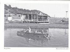 "+PC-Postcard-""Lady on Boat Ride"" -1950- *Marin County, Ca.-/Houseboats-Sausalito"