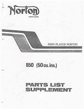 John Player Norton Commando 850cc parts manual supplmnt