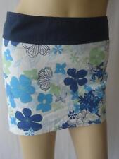 Ladies TOPSHOP White/Blue/Green Flower Print Summer Mini Skirt UK 8 EU 36
