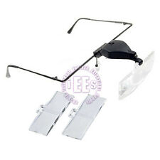 MAGNIFIER GLASSES MAGNIFYING SPECTACLES HANDS FREE ☆ 3 LENS ☆ EYELASH EXTENSIONS