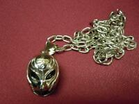 """BRAND NEW WWE WRESTLING REY MYSTERIO 3-D """"MASK"""" PENDANT NECKLACE"""