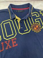 COOGI Mens Short Sleeve Button Up Polo Shirt Large Spell Out Size XL