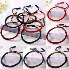 Buddhist Tibetan Charm Lucky Red Rope Bracelet Bangle Budda Handmade Women Men