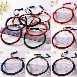 Buddhist Tibetan Charm Lucky Red Rope Bracelet Bangle Budda Handmade Women Men