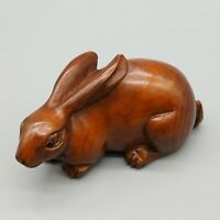 """Y5961-15 Years Old 1.5 /"""" Nice Quality Hand Carved Boxwood Netsuke:Turtles Ball"""