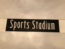 "Leicester Vintage Linen Bus Blind 1975 34""- Sports Stadium - Saffron Lane"