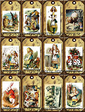 12 ALICE IN WONDERLAND HANG / GIFT TAGS FOR SCRAPBOOK PAGES (04)